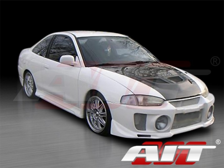 evo v style front bumper cover for mitsubishi mirage 1997 2001 coupe