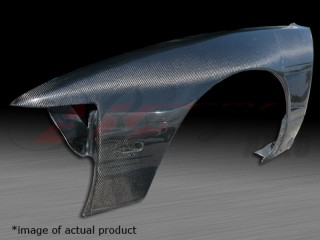 30mm Wider Carbon Fiber Front Fenders For 1989 - 93 Nissan 240sx