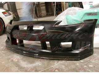 GT-R Style Front Bumper with Carbon Fiber Lip For Nissan 350z 2003-2008