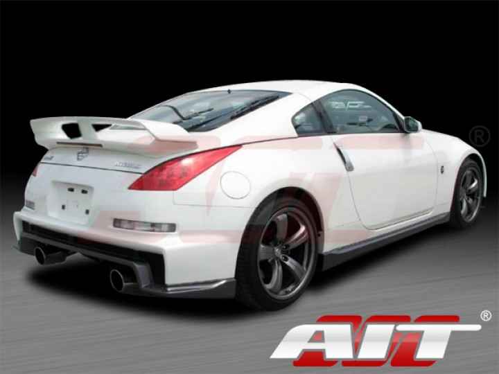 nismo 3 style rear bumper cover for nissan 350z 2003 2008. Black Bedroom Furniture Sets. Home Design Ideas