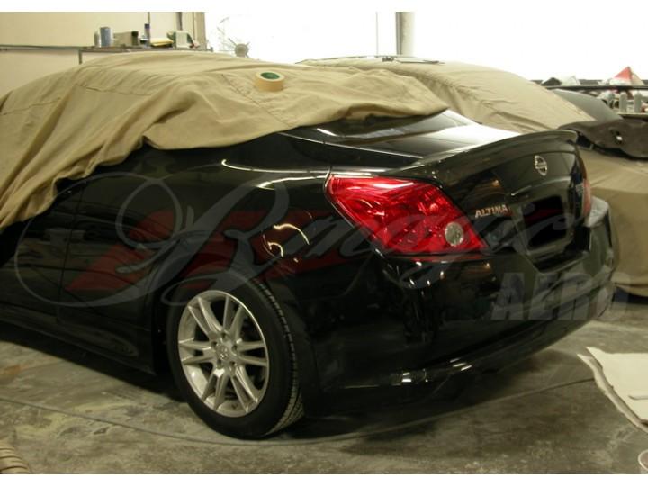 altima nissan coupe spoiler 2008 rear carbon ait fiber lip racing