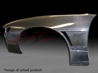 30mm Wider Carbon Fiber Front Fenders For 1989-1993 Nissan S13 Silvia