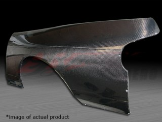 50mm Wider Carbon Fiber Quarter Panels For Nissan 240sx 1989-1993 Coupe Only