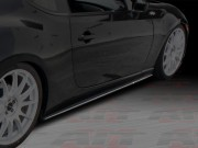 DL Style Carbon Fiber Side Skirts Extensions For Scion FR-S 2013-2014