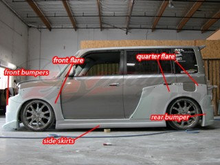 K1 Series wide body kit For Scion xB 2004-2007