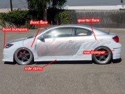 K1 Series wide body kit For Scion tC 2004-2010