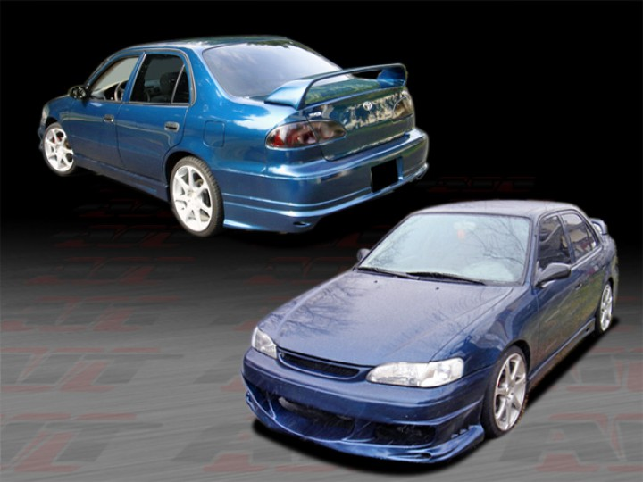 BMX Style Complete Body Kit For 19982000 Corolla