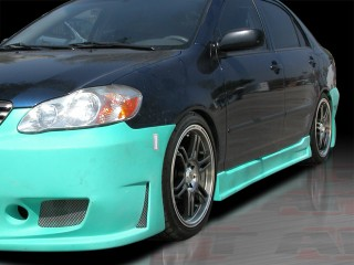 ZEN Style Side Skirts For Toyota Corolla 2003-2007