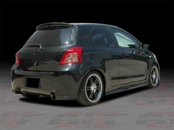 Dsr Series Carbon Fiber Rear Spoiler For Toyota Yaris 2007