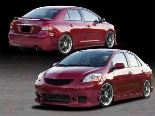 Zen Style Complete Bodykit For 2007-2011 Yaris Sedan