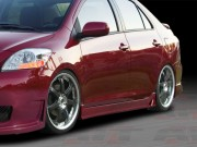 Zen Style Side Skirts For 2007-2012 Yaris Sedan