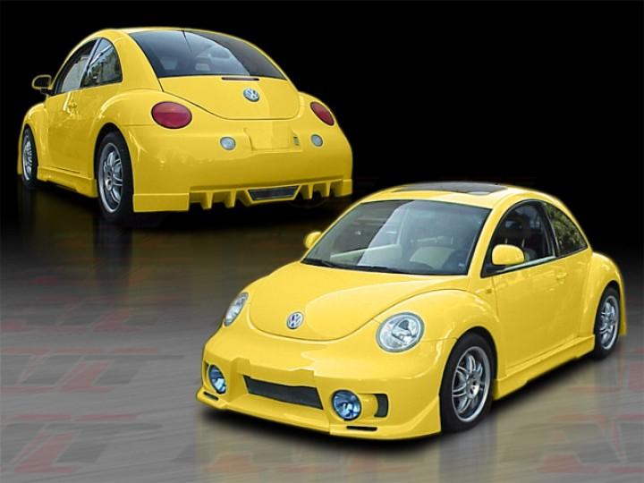 evo style complete bodykit for volkswagen new beetle 1998 2004. Black Bedroom Furniture Sets. Home Design Ideas