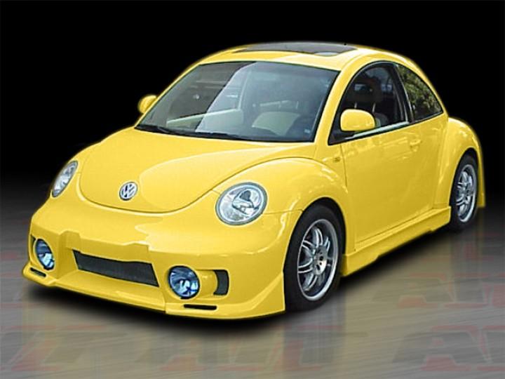 evo style front bumper cover for volkswagen new beetle 1998 2004. Black Bedroom Furniture Sets. Home Design Ideas