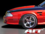 D1 Style Front Fenders For Ford Mustang 1988-1993