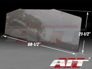 Universal Carbon Diffuser 21.5 inch X 68.5 inch - Square Corner