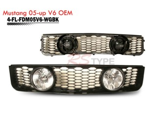 Front Grille With Foglight For Ford Mustang V6 2005-2009