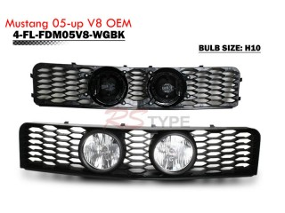 Front Grille With Center Foglight For Ford Mustang GT 2005-2009